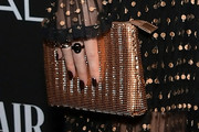 Halston Sage Metallic Clutch