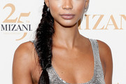 Chanel Iman Long Braided Hairstyle