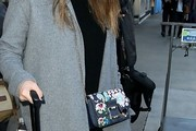 Jessica Alba Printed Shoulder Bag