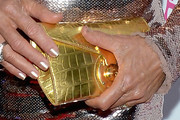 Suzanne Somers Metallic Clutch
