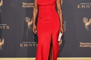 Angela Bassett One Shoulder Dress