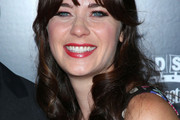 Zooey Deschanel Half Up Half Down