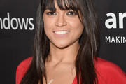 Michelle Rodriguez Long Straight Cut with Bangs