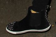 Frances Bean Cobain Studded Boots
