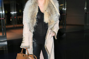 Jessica Simpson Fur Coat