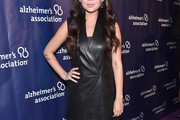 Janel Parrish Leather Dress