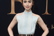 Lily Collins Halter Top