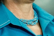 Hillary Clinton Clay Beaded Necklace