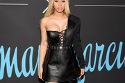 Cardi B Leather Dress