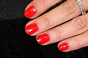 Claudia Gerini Bright Nail Polish