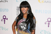 Megan Good Long Straight Cut with Bangs