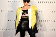 Noomi Rapace Faux Fur Coat