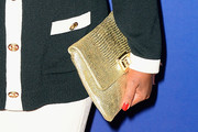 Chaz Ebert Metallic Clutch