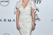 Jessica Chastain Embroidered Dress