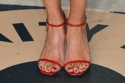 Andrea Riseborough Strappy Sandals