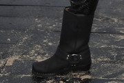 Miley Cyrus Motorcycle Boots