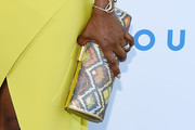 Angela Bassett Printed Clutch