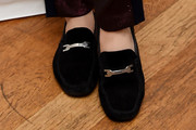 Andreja Pejic Suede Loafers