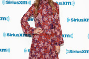 Hilary Swank Print Dress