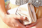 Jennifer Morrison Satin Clutch