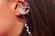 Adele Exarchopoulos Dangling Diamond Earrings