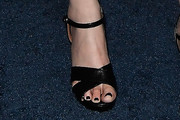 Emily Deschanel Strappy Sandals