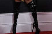 Lady Gaga Over the Knee Boots