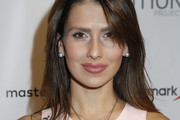 Hilaria Baldwin Long Straight Cut with Bangs