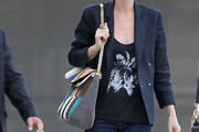 Laeticia Hallyday Suede Shoulder Bag