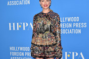 Amber Heard Embroidered Dress