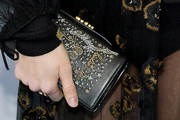 Zoe Kazan Leather Clutch