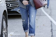 Emmy Rossum Ripped Jeans