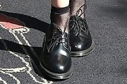 Kristen Stewart Leather Lace-ups