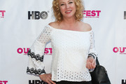 Virginia Madsen Off-the-Shoulder Top