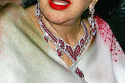 Elizabeth Taylor Diamond Chandelier Necklace