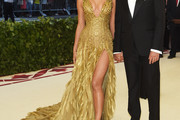 Irina Shayk Beaded Dress
