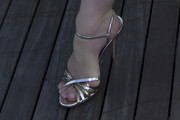 Christina Hendricks Strappy Sandals