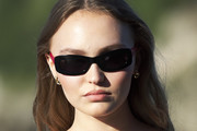 Lily-Rose Depp Long Center Part