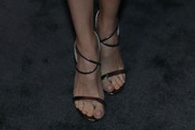 Danielle Panabaker Strappy Sandals