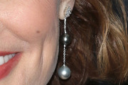 Geena Davis Pearl Drop Earrings