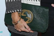 Minnie Driver Leather Clutch