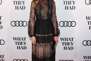Hilary Swank Lace Dress
