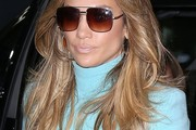 Jennifer Lopez Feathered Flip