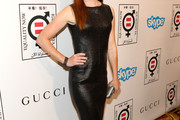 Alyson Hannigan Leather Dress