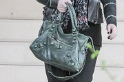 Michelle Trachtenberg Leather Tote