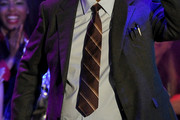 George Lopez Striped Tie