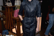 Amanda Michalka Leather Dress