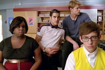 Kevin McHale Darren Criss Glee Season 4 Episode 2