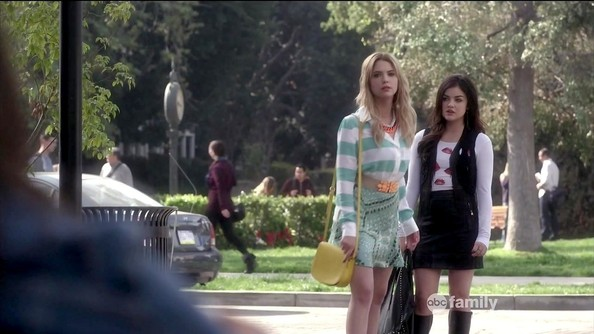 Lucy Hale and Ashley Benson - Pretty Little Liars Season 4 Episode 2